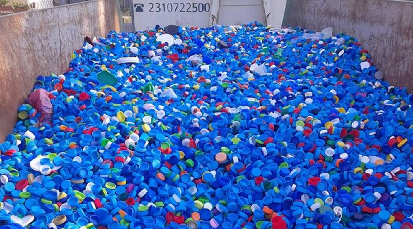 Δήμος Θεσσαλονίκης: προς ανακύκλωση 3,5 τόνοι πλαστικά καπάκια