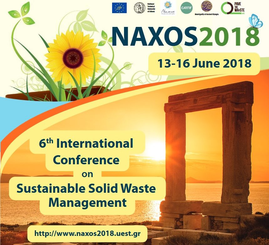 Διεθνές Συνέδριο NAXOS 2018 - 6th International Conference on Sustainable Solid Waste Management, 13-16 Ιουνίου 2018